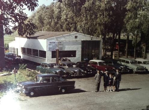 Garagebedrijf rigter en hack in 1962
